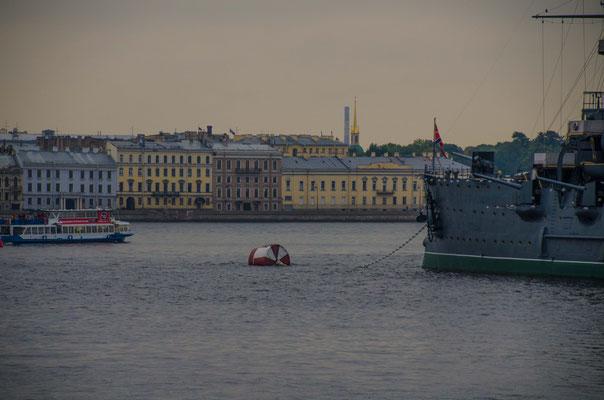 Mit diesem Schiff lief im Februar 1917 die Russische Marine in St. Petersburg ein.