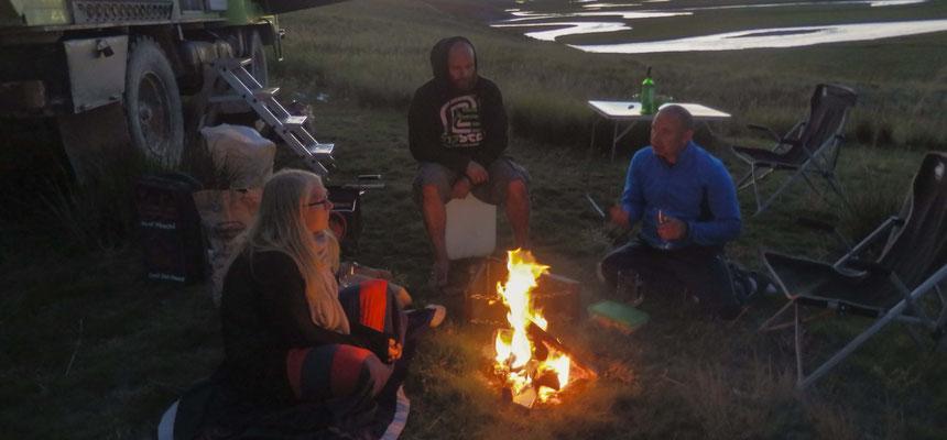 a camp fire :-)