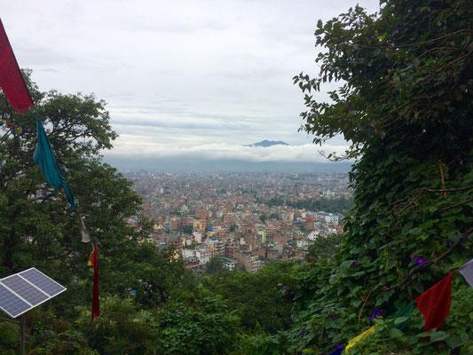 Zum Abschluss Kathmandu von oben.