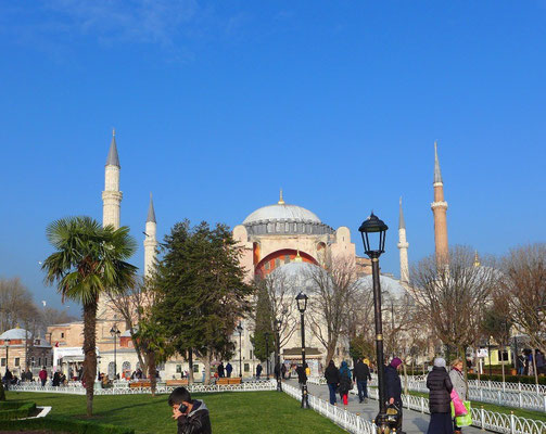 The Blue Mosque from far