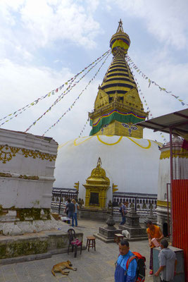 """Buddhistischer Tempel """"Swayambhunath"""", auch genannt Affenberg."""