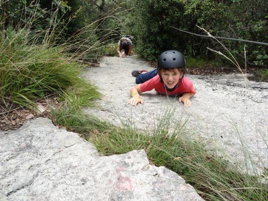 mein Cousin am Klettersteig