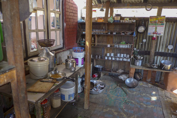 die Küche unserer Unterkunft in den Bergen