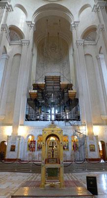 Die Kathedrale wird im Innern gerade erst verziert.