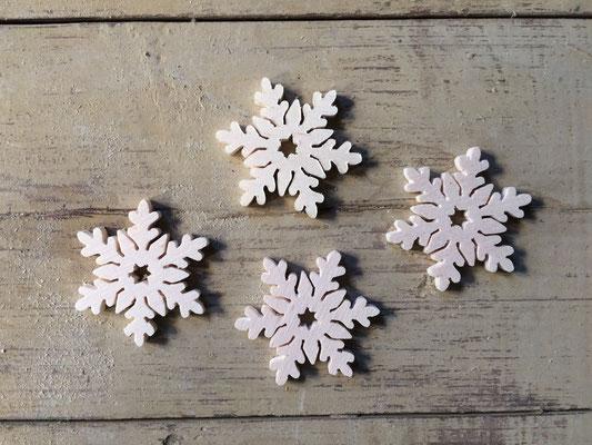 sagoma profilo fiocchi di neve in legno