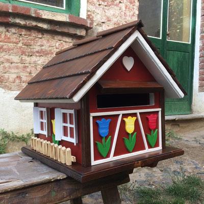 cassetta postale da esterno in legno