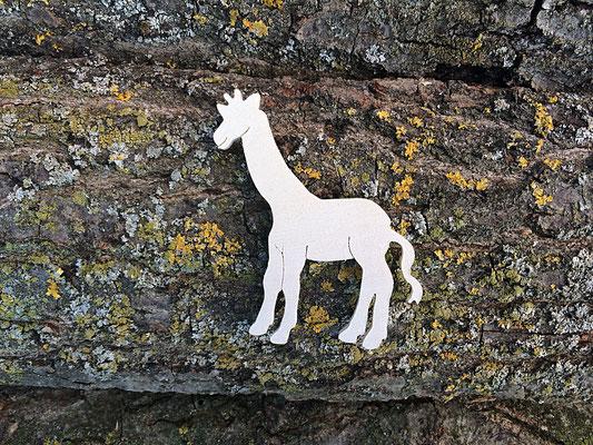 sagoma profilo giraffa in legno
