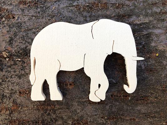 Sagoma profilo elefante in legno