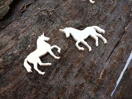 sagoma profilo unicorno in legno