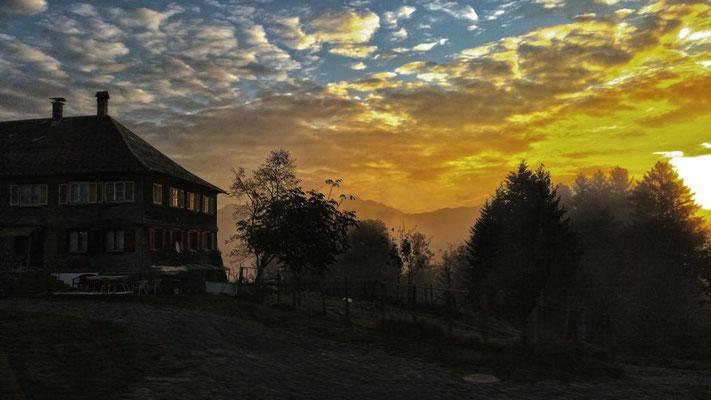 Sonnenaufgang... (Foto Gisela)