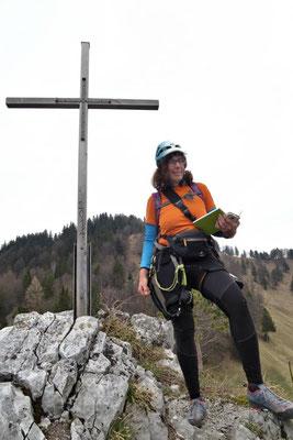Gipfelbuchschreiberin