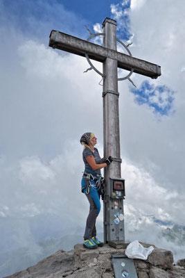 ...beim Gipfelkreuz