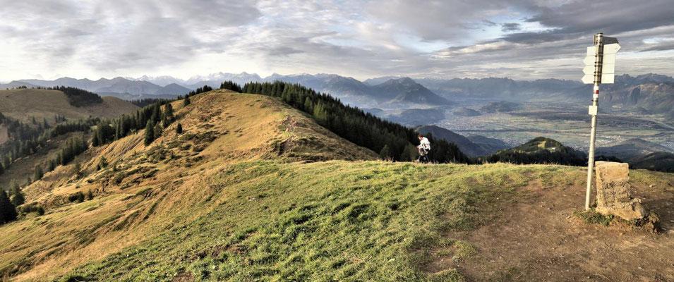 ...und Richtung Oberland