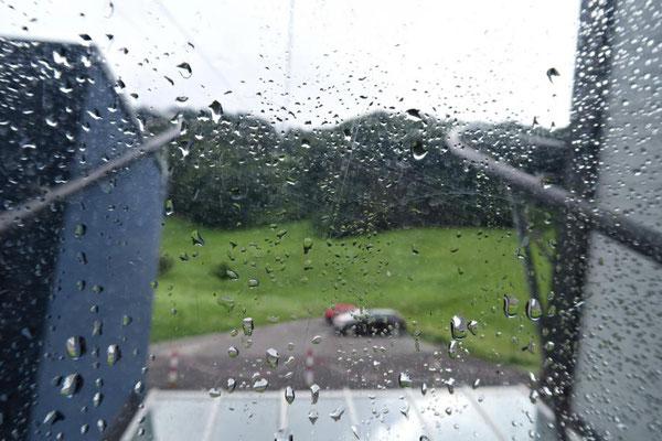 Morgens noch Regen