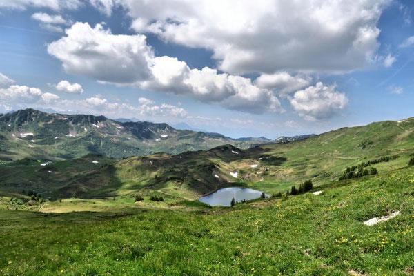 Wolkengebilde über'm Sünser See