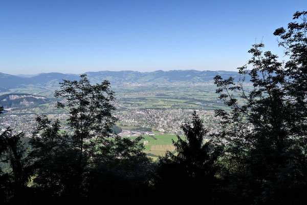erster Blick ins Rheintal