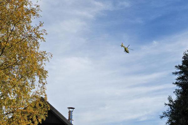 Hubschrauber kreist...