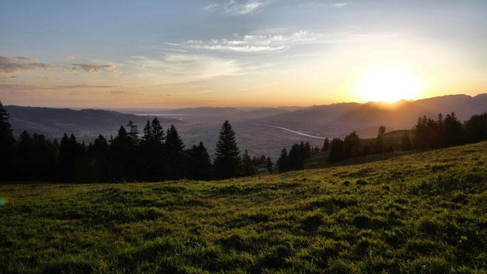 erster Blick zum Rhein und Bodensee