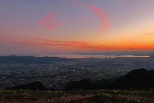 Morgenrot über Bregenz