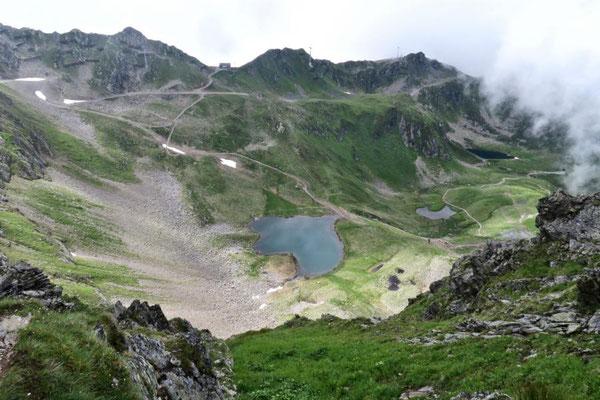 der Herzsee unterhalb der Wormser Hütte