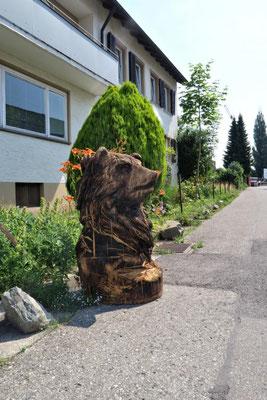 Bär von einer Holzschnitzerei