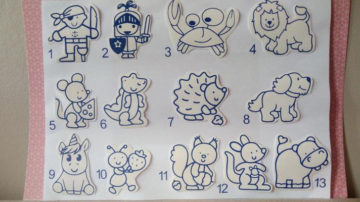 Les différents modèles de stickers