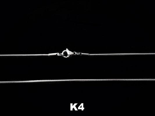 K4 - Schlangenkette Edelstahl 1,2mm - silberfarben