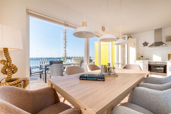 Küche / Essbereich - Ferienwohnung Kapmar / Kappeln-Olpenitz Ostsee