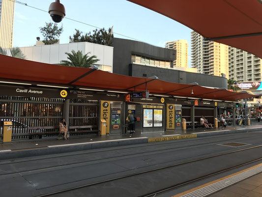 Gold Coast - G:link | Gold Coast Light Rail | Tram Network  Cavill Avenue Station