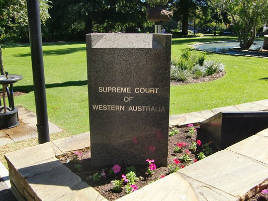 Supreme Court of Western Australia - 西オーストラリア州最高裁判所の入り口