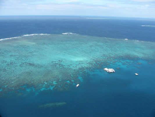 Great Barrier Reef - Norman Reef空からの眺め