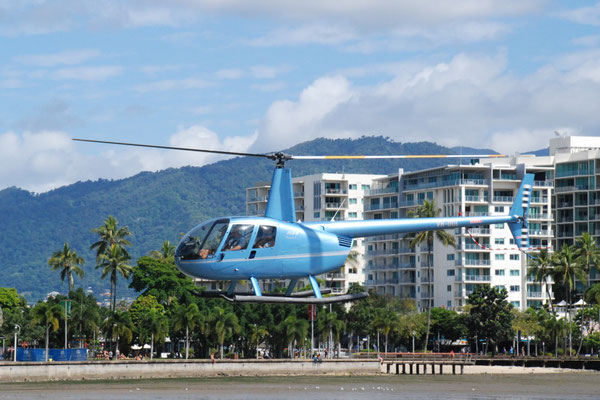 GBR Helicopters Cairns Heli Port - 世界自然遺産グレートバリアリーフと世界最古の熱帯雨林を空の上から眺めることができます。Helicopter遊覧飛行の発着場所