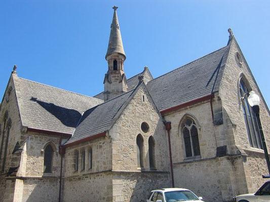 St John's Anglican Church Fremantle - フリーマントルの中心地にあるセントジョーンズ・アングリカン教会。ビジターセンターの目の前にあります。