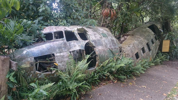 Kuranda - 第二次世界大戦中に不時着したアメリカ軍の飛行機がそのままの形で残っています