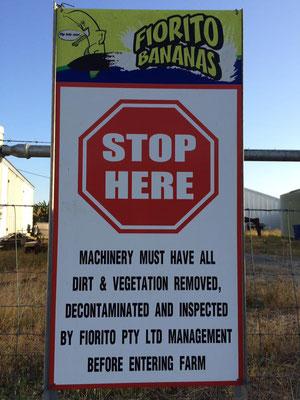 Innisfail バナナファーム ストップサイン