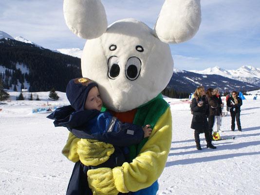 Skischule mit Snowli