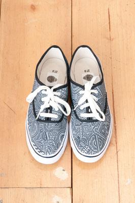 Apsu Hand drwing Shoes 紐付き/BLACK&WHITE/JPY 22,000/オーダー可能
