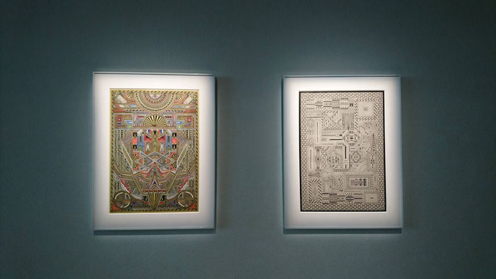 パリのジュエリーブランド「AGATHA PARIS」の新作発表会にてコレボーレーションと展示。メインの作品である【大陸図】と【神殿図】