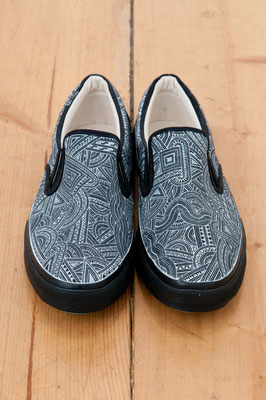 Apsu Hand drwing Shoes/BLACK&WHITE/JPY 26,000/オーダー可能