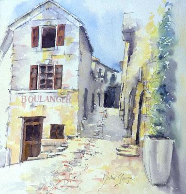 aquarelle du Luberon de Didier Georges