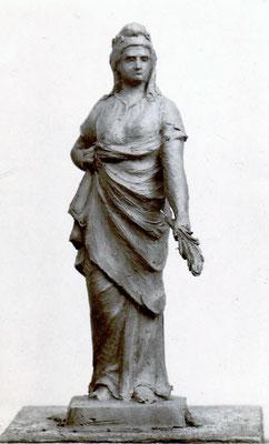 """Modèle de la statue """"La France victorieuse"""" du monument de Champdor"""