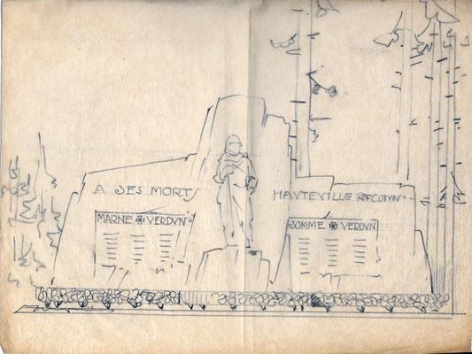 Projet du Monument aux Morts d'Hauteville