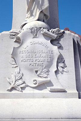 Détail du Monument aux Morts d'Hauteville