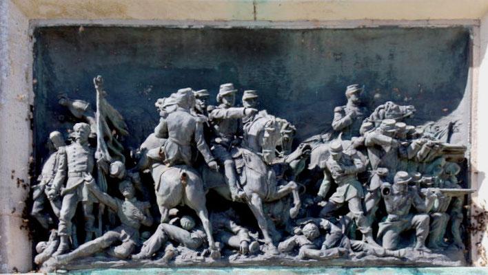 """Haut-relief """"Le combat de la cavalerie"""""""
