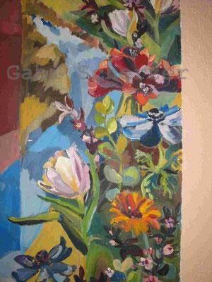 Bild von Bibel, Strom des Lebens, Wandmalerei, 1989