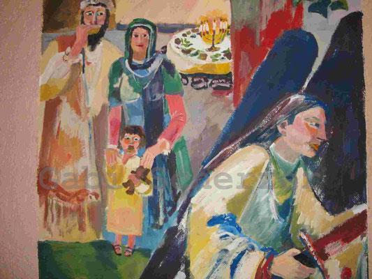 Bild von Bibel, Passchanacht,  Wandmalerei, 1989