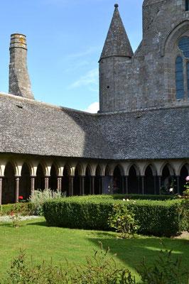 Kreuzgang der Abtei Mont-Saint-Michel