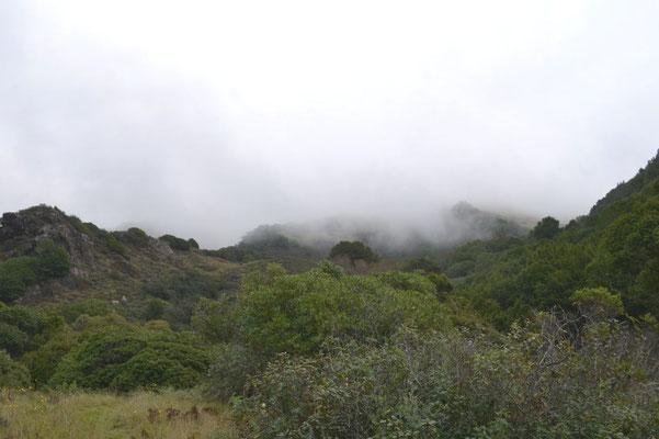 Rechts die Berge des Santa-Lucia-Gebirges …