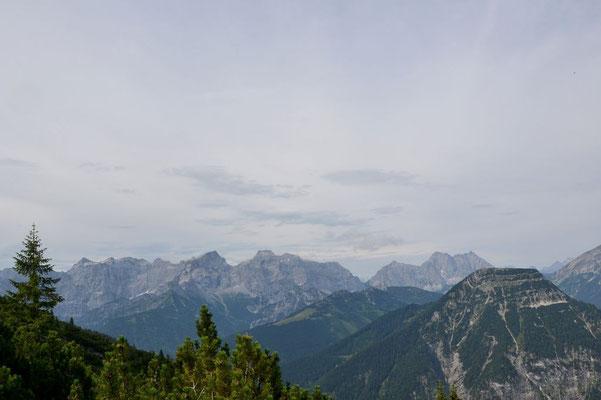 Die Gipfelkette des Karwendel