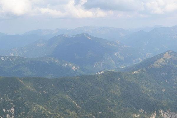 Mangfallgebirge mit dem Schinder in der Mitte